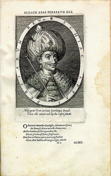 File:Shah Abbas I engraving by Dominicus Custos - Antwerp artist printer and engraver.jpg