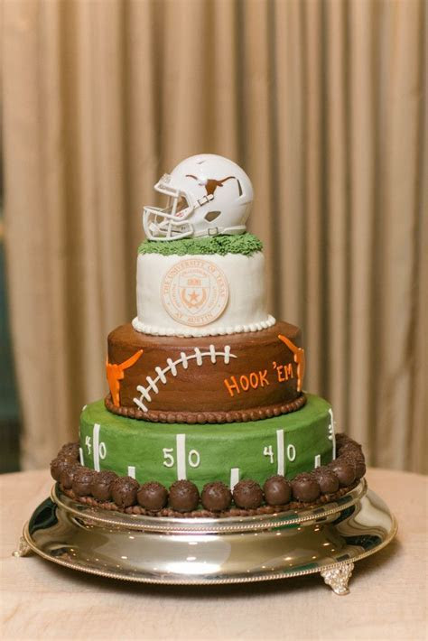 Three tiered University of Texas Longhorns football themed