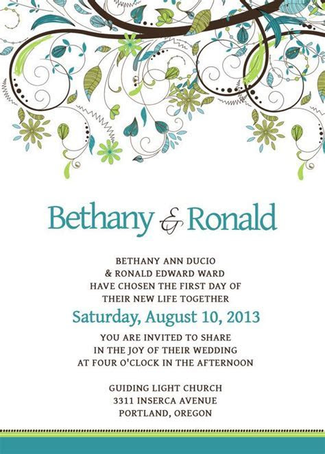 Wedding Invitation Template Set   PSD   Photoshop