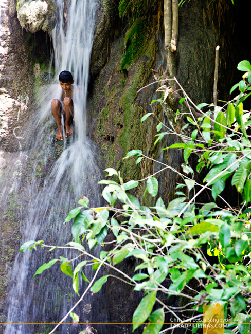 Back Rub at Iligan City's Pampam Falls