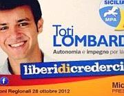 Il manifesto elettorale di Lombardo jr