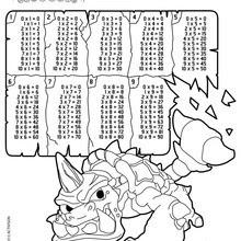 Dibujos Para Colorear Tablas De Multiplicar Skylanders Es