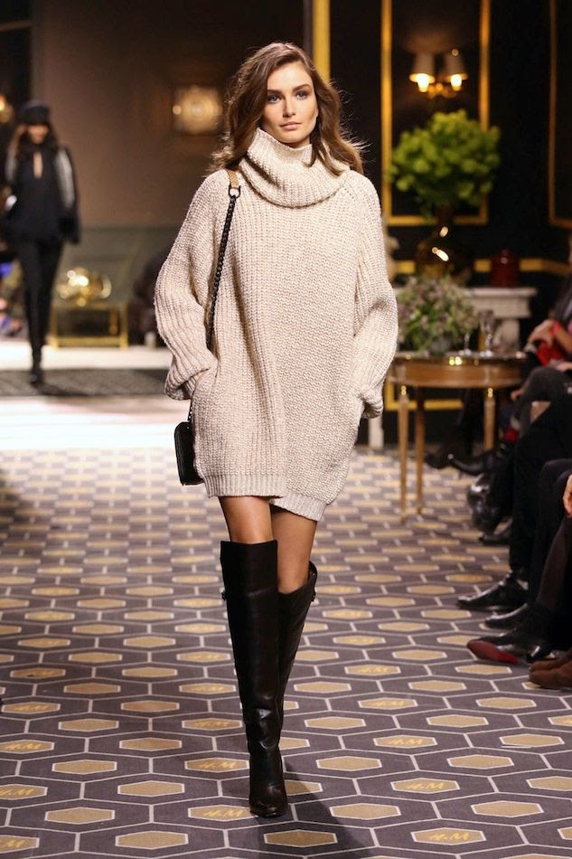 Le Fashion Blog Model Andreea Diaconu Turtleneck Sweater Dress Over The Knee Boots HM FW 2013 Paris photo Le-Fashion-Blog-Model-Andreea-Diaconu-Turtleneck-Sweater-Dress-Over-The-Knee-Boots-HM-FW-2013-Paris.jpg