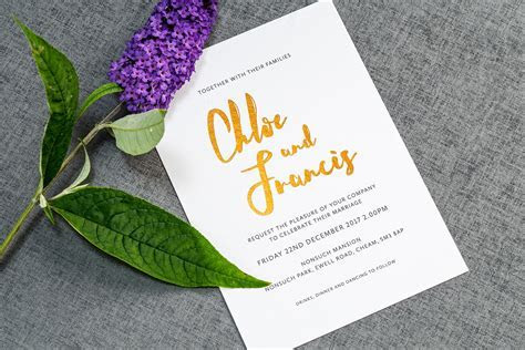 Wedding Invitation Wording: How to Get it Right   Foil