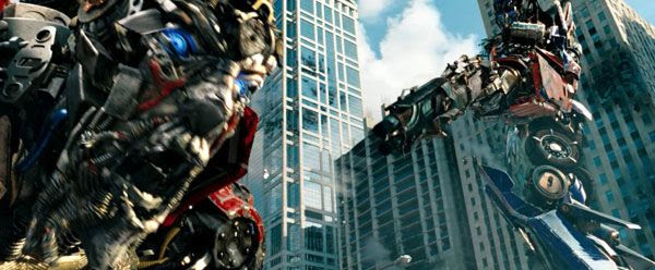 Optimus is about to punish Sentinel Prime for his treachery in TRANSFORMERS: DARK OF THE MOON.