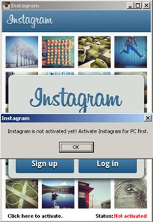 Imagens até se parecem com as do Instagram original (Foto: Divulgação/Symantec)