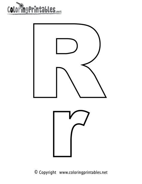 Alphabet Letter R Coloring Page   A Free English Coloring