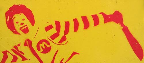 Stenciled sticker