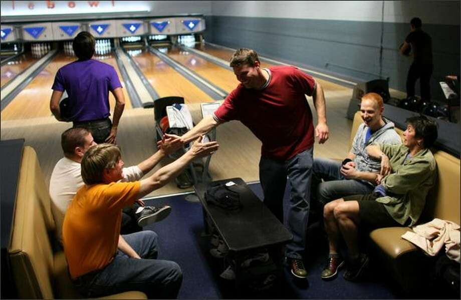 Image result for high five bowler