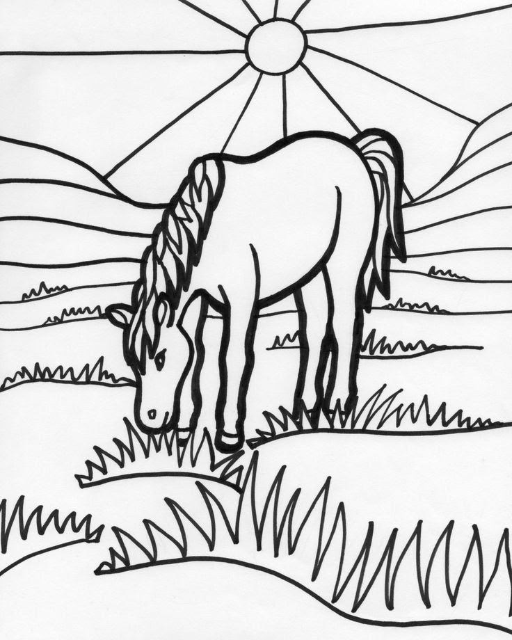 Horse Stable Coloring Pages Coloring Pages