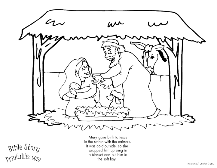 Ten Best Christmas Coloring Pages | Whats in the Bible