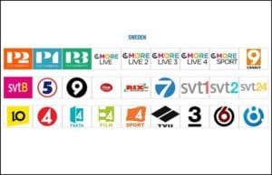 SVT C More Viasat Film TCM Discovery Comedy Central