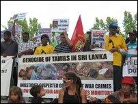Tamils protest in Perth, Australia