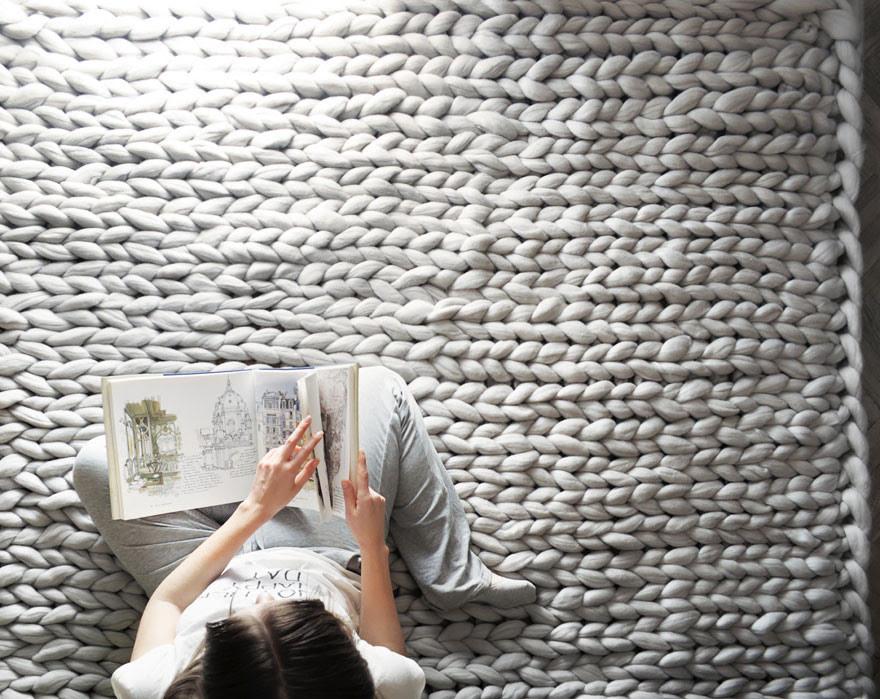 Массивное вязание Анны Мо вязание, плед, размер