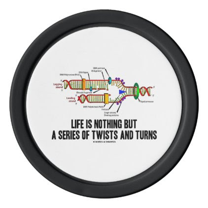 Life Is Nothing But A Series Of Twists & Turns DNA Poker Chip Set