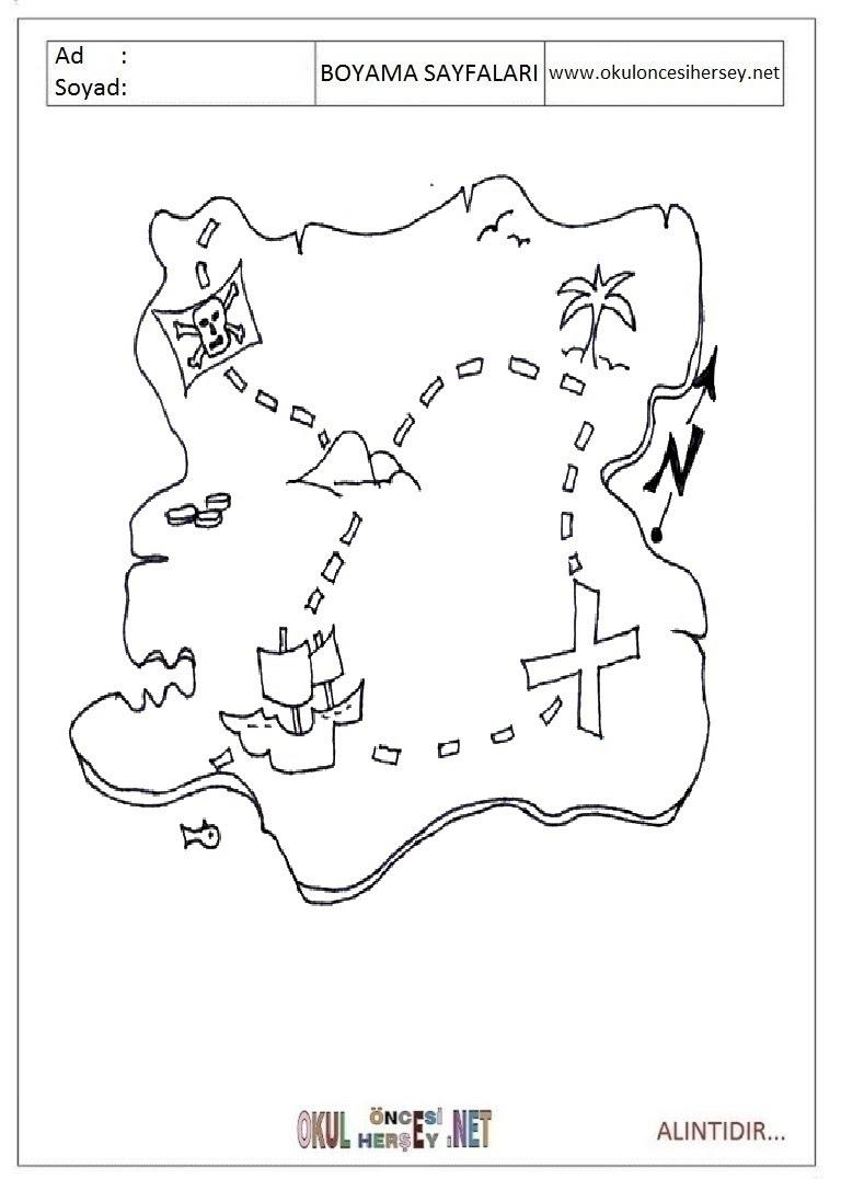 Harita Boyama Sayfaları