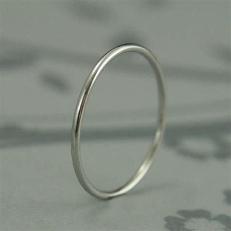 Just Like Mila Kunis' Ring  Thin Platinum Band Platinum