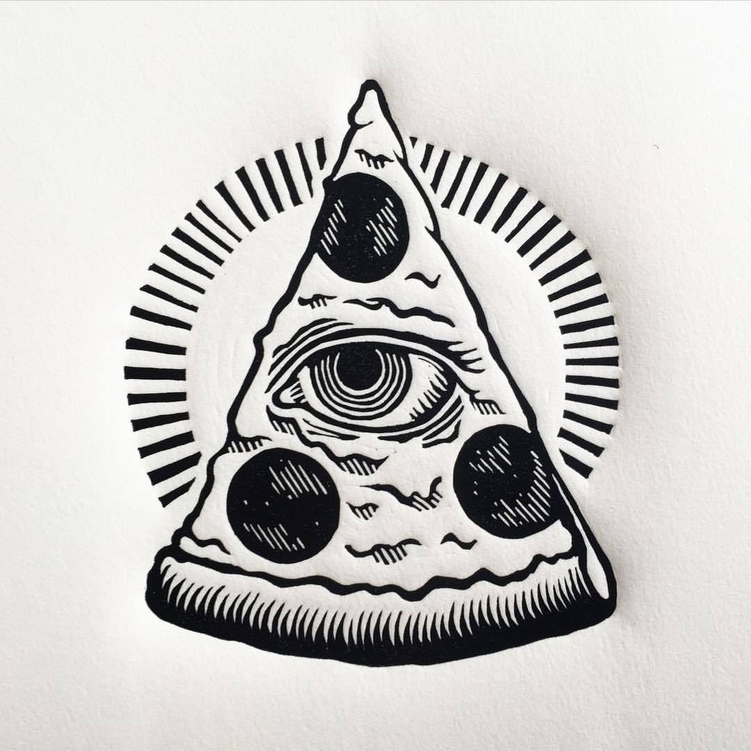 Image result for illuminati pizza