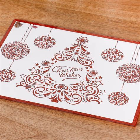Set of 2 Glitter Christmas Placemats