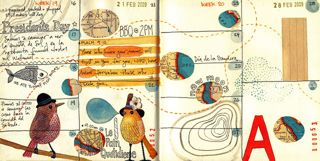 Journal pages for Feb 09