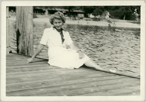 Woman on dock