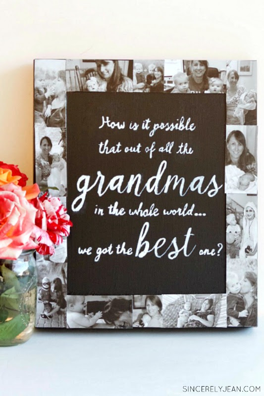 Diy Picture Frame Collage Chalkboard Giggles Galore