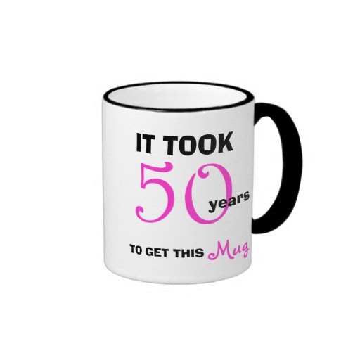50th birthday The Queen is 50! Mugs
