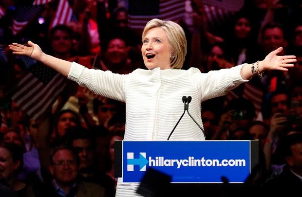 Hillary alcançou número de delegados para ser a candidata democrata (Foto: Julio Cortez/AP)