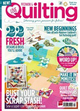 My Butterflu Quilt is on the cover of  Love Quilting & Patchwork Cover!  Woohoo!!!