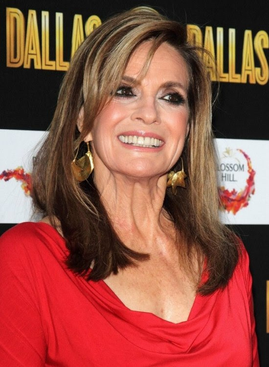 Linda Gray aged over 70 | Long hairstyle for a youthful