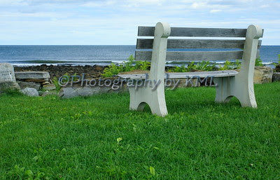 a seat beside the sea