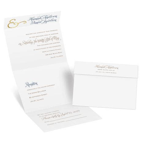 Perfect Pair Foil Seal and Send Invitation   Invitations