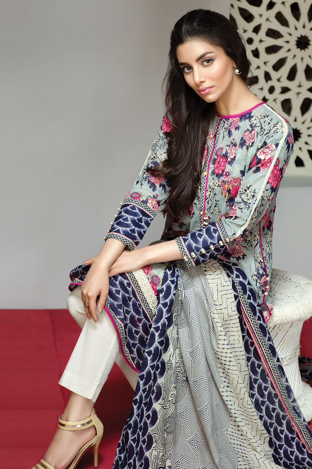khaadi lawn  chiffon eid dresses collection 20162017