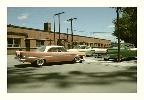 Research Building parking lot 1958