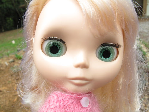 Snow with green eyes.