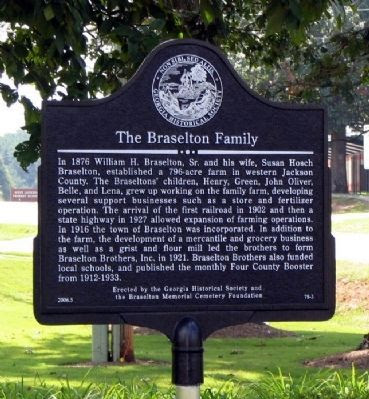 The Braselton Family Marker Photo, Click for full size