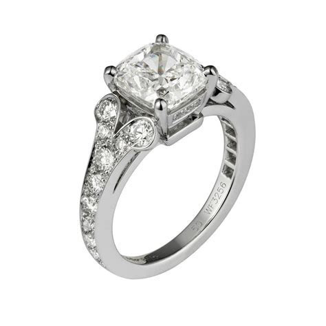 Cartier   Ballerine Cushion Cut Diamond Engagement Ring