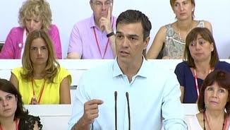 Pedro Sánchez davant del comitè federal del PSOE