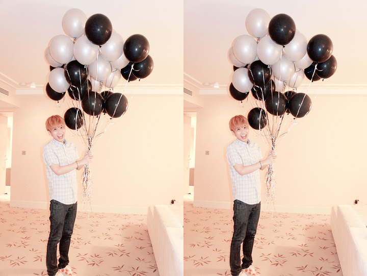 typicalben with balloons