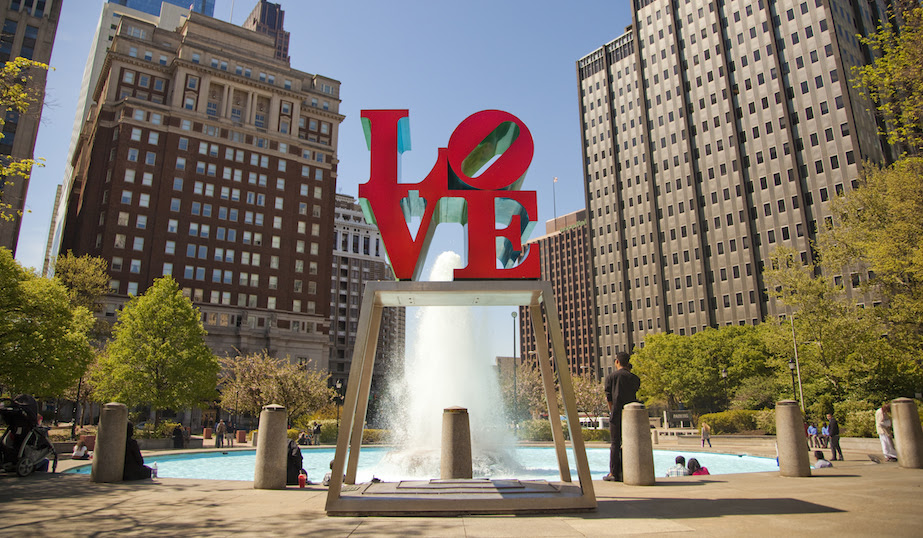 Image result for philadelphia love park