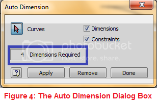 autodimension dialog box