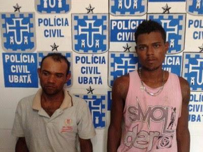 Renilson e Marcos Antônio foram presos pela PM (Foto: Ubatã Notícias)