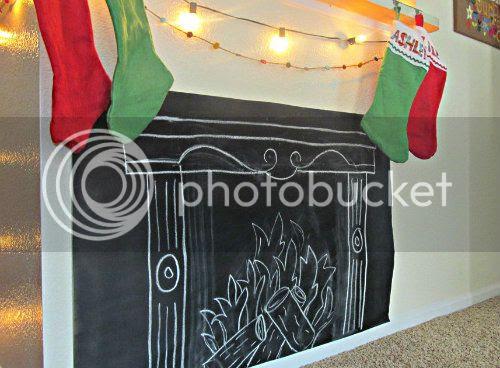 Christmas Chalkboard Mantle www.bowandarrowart.com2