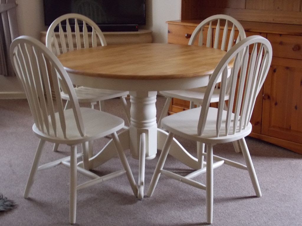 Top 50 Shabby Chic Round Dining Table and Chairs  Home Decor Ideas