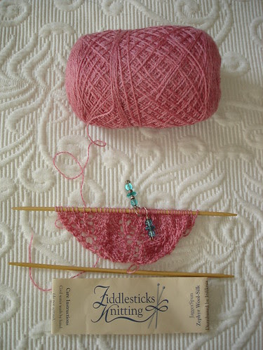 Starting another Flower Basket Shawl