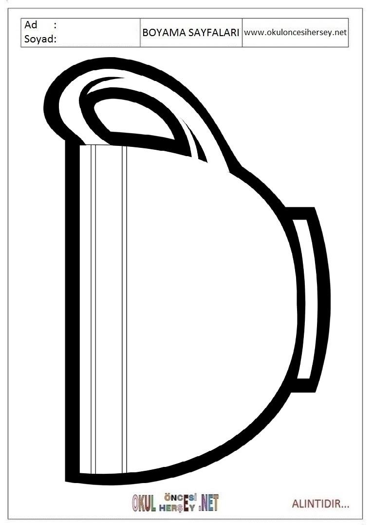 Kupa Boyama Sayfaları