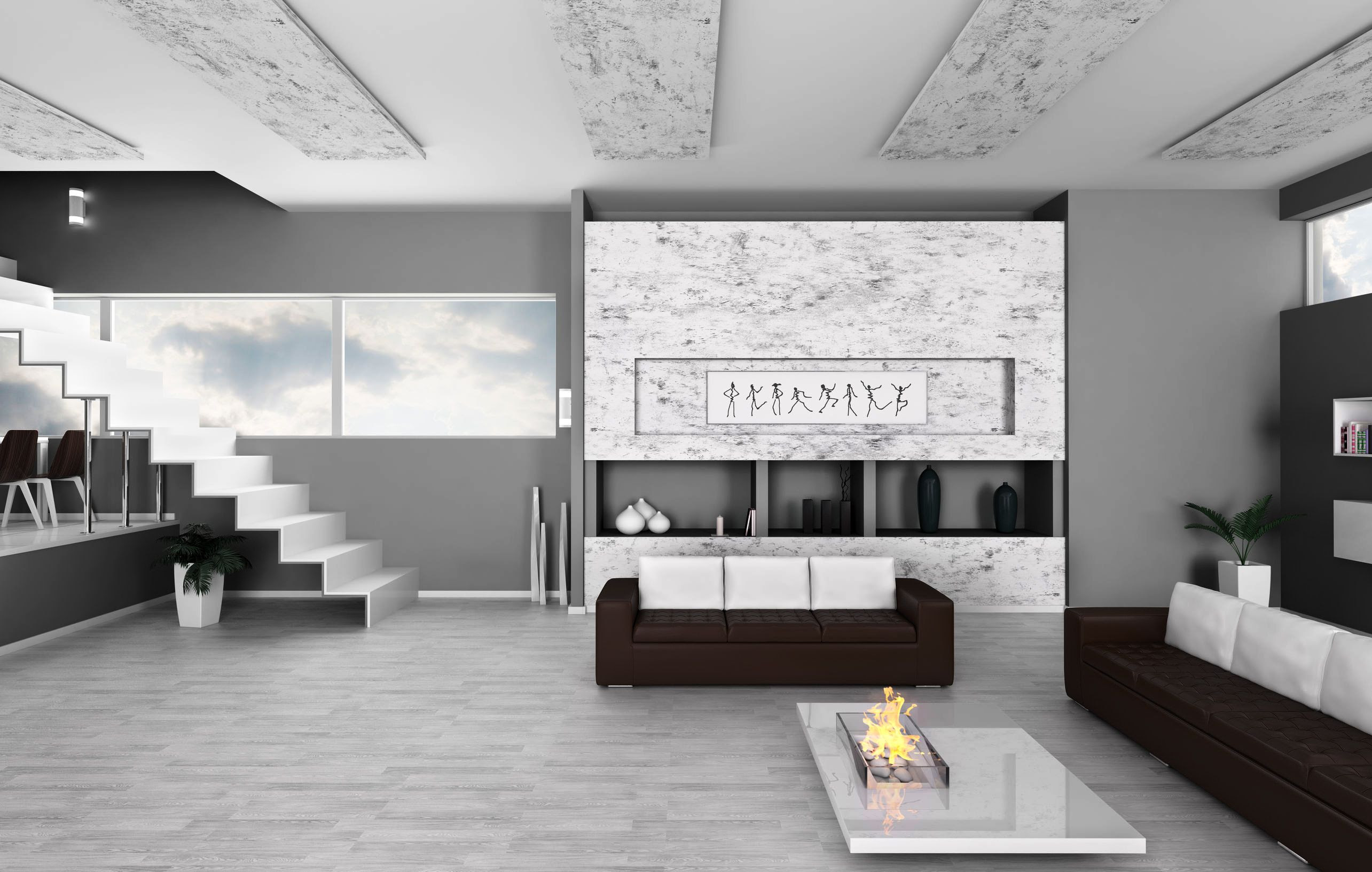Amazing Concrete Floors Living Rooms Garage Floor Paint Gray