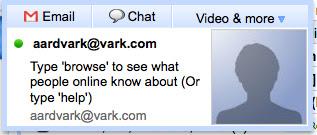 Gmail chat - Aardvark