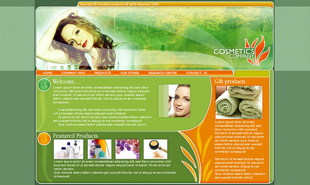 Free Flash Website Template Cosmetics Shop   Flickr - Photo Sharing