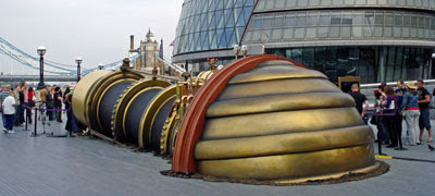 the Telectroscope outside City Hal